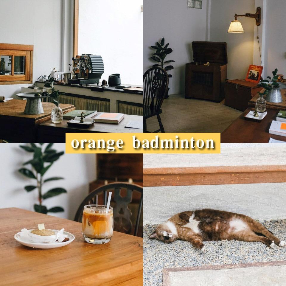orange badminton
