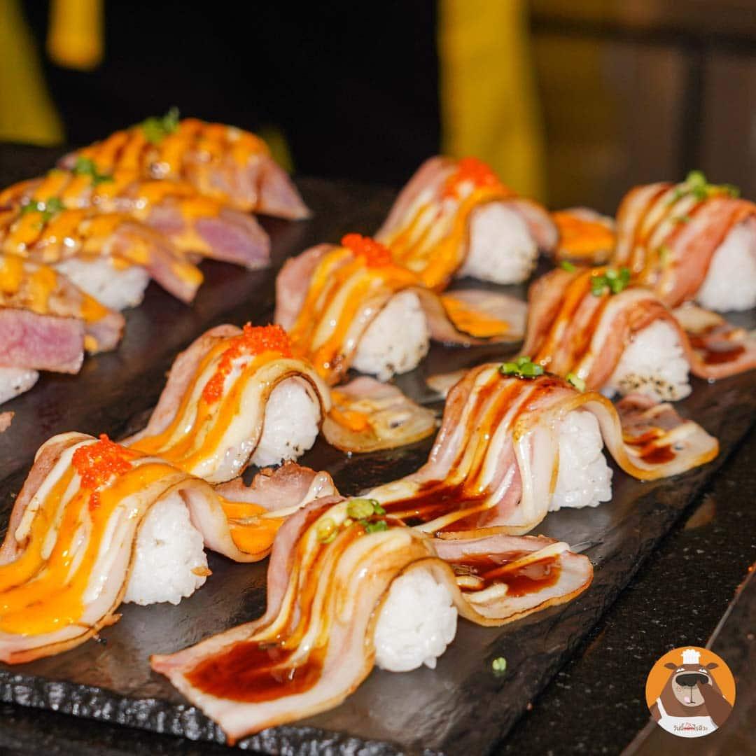 sushi bacon